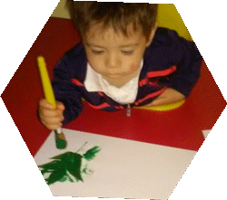 child painting at Happy Bees Daycare